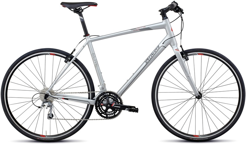 SPECIALIZED SIRRUS ELITE (2013) (L) SLV-BK-RD